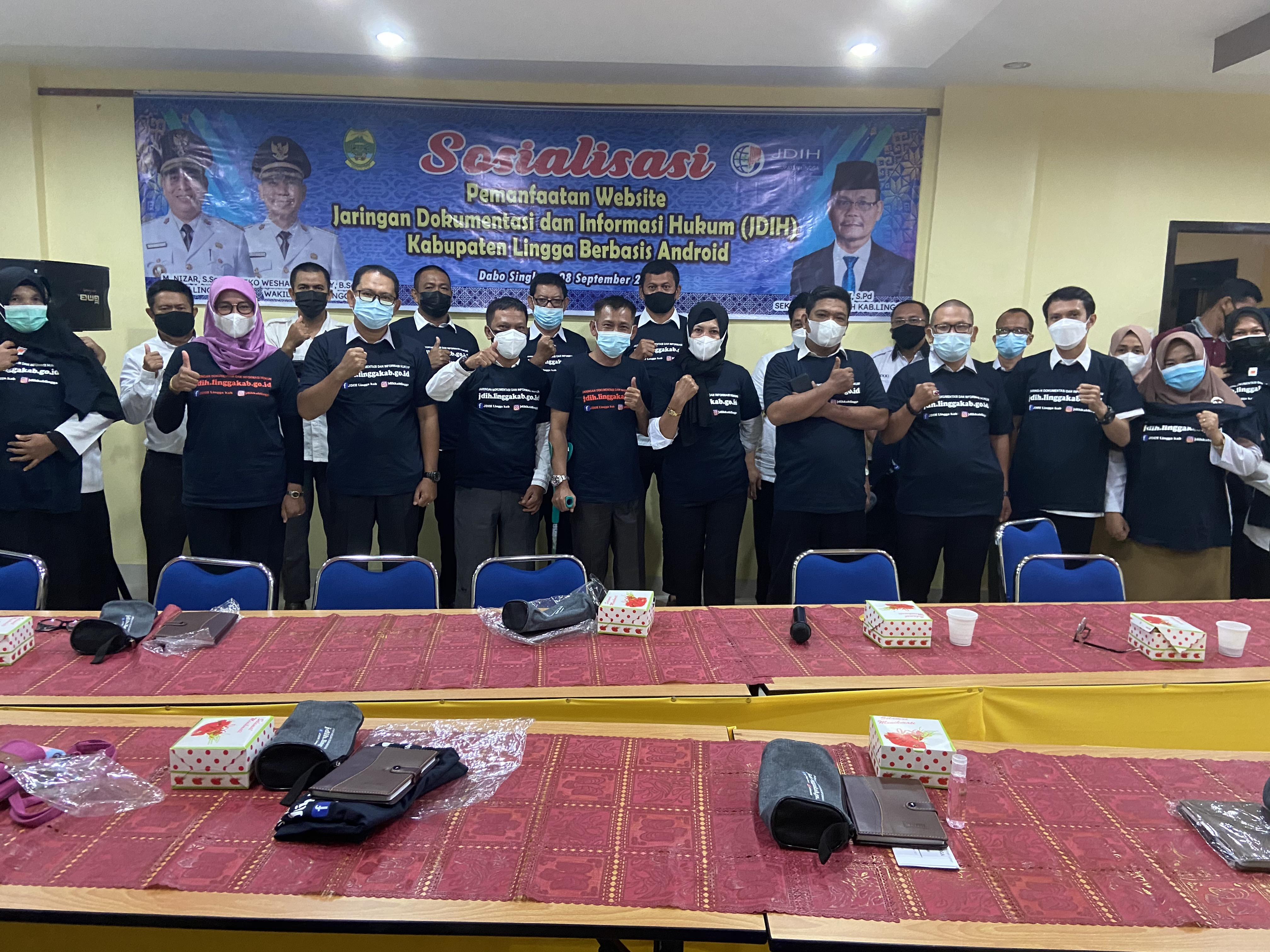 Sosialisasi Pemanfaatan Website JDIH Kabupaten Lin
